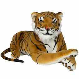 "24"" Large Tiger Plush Animal Realistic Big Cat Orange Soft S"