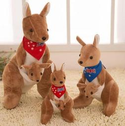 25cm Adorable Kangaroo Collection Plush Stuffed Animal Toy D