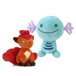 2pcs Pokemon Center Wooper and Vulpix Plush Toy Stuffed An