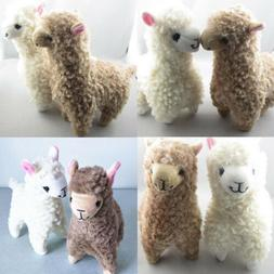 2x Cute Kids Alpaca Plush Toy 23CM Height Camel Cream Llama