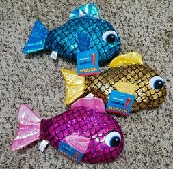 "3/10"" Plush Fish Stuffed Animals Six Flags Winner Prize Sea"