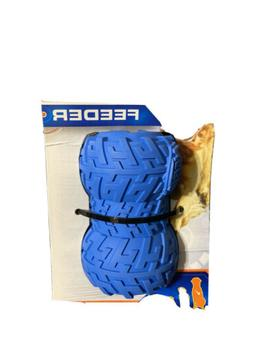"Nerf Dog 3.5"" Tire Treat Feeder Dog Toy, Blue Medium"