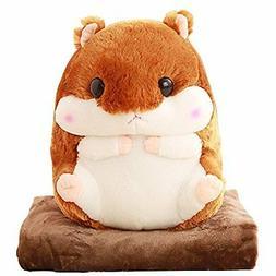 Alpacasso 3 In 1 Cute Hamster Plush Stuffed Animal Toys Pill