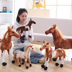 30-90cm 4 Styles Simulation Horse Plush <font><b>Toy</b></fo