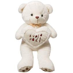 "32"" Giant Teddy Bear Stuffed Plush Toy Animals Smile Love He"