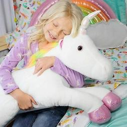 "The Petting Zoo - 36"" Super Soft Jumbo Rainbow Unicorn - Kid"