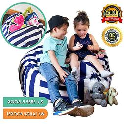 """Quality 38"""" Stuffed Animals Storage Bean Bag Chair - with"""