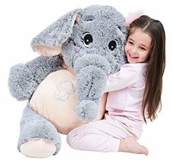 "IKASA 39"" Giant Elephant Stuffed Animal Plush Toys Gifts for"