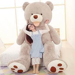 YXCSELL 39 Inches/100cm Gray Beak Bear Stuffed Huge Plush Cu