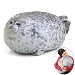 3D Novelty Throw Pillows Soft Seal Plush <font><b>Stuffed</b