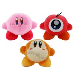 3pcs Kirby Waddle Dee Doo Plush Doll Figure Stuffed Animal S