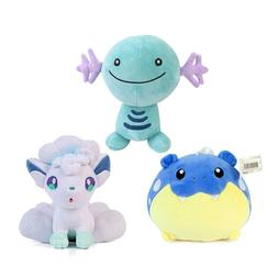 3pcs Pokemon Wooper, Spheal and Alola Vulpix Stuffed Anima