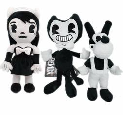 3PCS Stuffed Animals Bendy, Boris Plush Doll Toys For Kids t