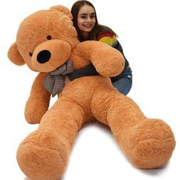 "4.5 Foot Light Brown Giant Huge 55"" Teddy Bear Cuddly Stuffe"