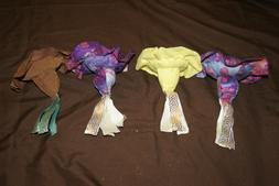 4 handmade stuffed fish  Pink, Green, Red, and Purple