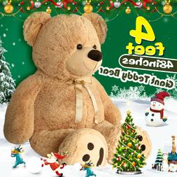 "48"" Giant Plush Teddy Bear Huge Stuffed Animal Toy Doll Vale"