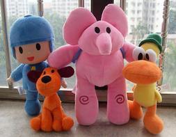 4Pcs/Set Pocoyo Loula Elly Pato Plush Doll Stuffed Animals S