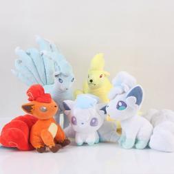 Pokemon Center Alola Vulpix Ninetales Figure Soft Stuffed Pl