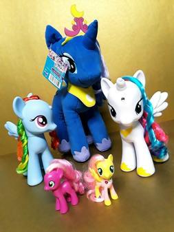 My Little Pony 5x Lot Plush Magical Figures Dolls Vinyls Has