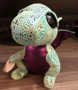 "6"" Cinder Dragon TY Beanie Boos Plush Stuffed Animals Girl T"