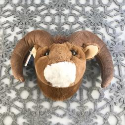 "Stuffed Animal House 6"" Bighorn Sheep Mini Head Wall Mount W"