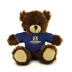 "Plushland 6"" Chocolate Bear with Team Jersey Stuffed Animals"