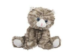 "Ganz 6"" Grey Stripe Tabby Cat Plush Toy Stuffed Animal"