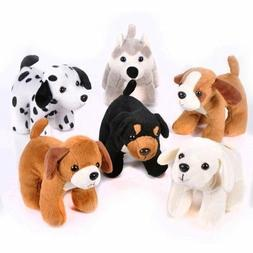 6 Inches Tall Plush Puppy Dogs  Stuffed Animals Bulk Assortm