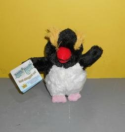 "6"" NEW Rock Hopper Penguin Wild Republic Hug Ums Bean Plush"