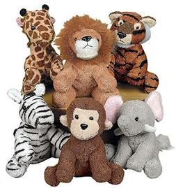 6 Stuffed Animals BABY SHOWER Diaper Cake Party Favors ZOO S
