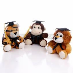 "6"" Wild Life Zoo Graduation Jungle Buddies Stuffed Animals T"