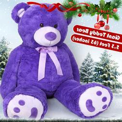 "63"" Giant Plush Teddy Bear Big Huge Stuffed Animals Toy Chri"