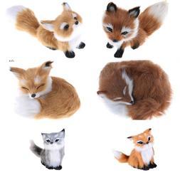 6Styles Cute Simulation Fox <font><b>Toy</b></font> Mini Squ