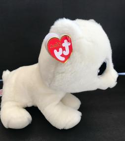 """7"""" Ty Artic Big Blue Eyes Polar Bear Plush Stuffed Animal"""