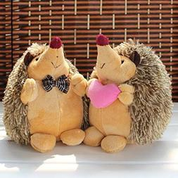 1Pair of 7 Howie Hedgehog Couple Plush Stuffed Dolls Animal