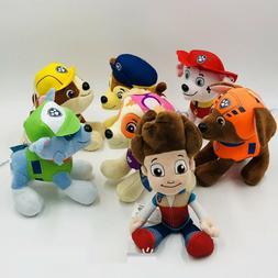 7 PCS Paw Patrol Plush Stuffed Animal Toy Set: Ryder Chase R
