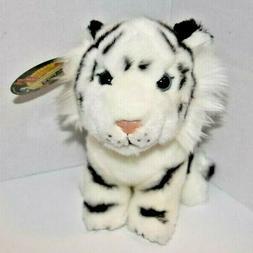 7 white tiger plush stuffed animal soft