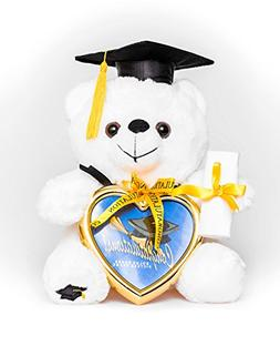 "8"" Graduation Plush Teddy Bear with Cap and Diploma in Hand!"