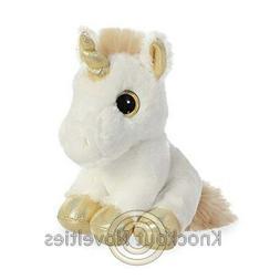 8 Inch Sparkle Tales Gold Unicorn Plush Stuffed Animal by Au