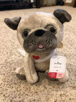 """8"""" Cu-Pug Plush By Hallmark Cute & Soft Cupid Dog Stuffed"""