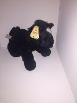 8 Inch Mini Flopsie Black Horse Plush Stuffed Animal by Auro