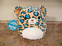 Kellytoy 8 inch Squishmallow Liv the teal Leopard RARE NEW H