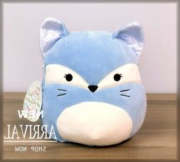 "Kellytoy Squishmallows 8"" Keith the Blue Fox S23 NEW Plush T"