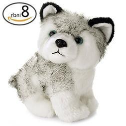 "8""Lovely Plush Dog Siberian Husky Soft Stuffed Animal Puppy"
