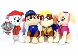 "8"" Paw Patrol Plush Stuffed Animal Toy Set: Chase, Rubble, M"