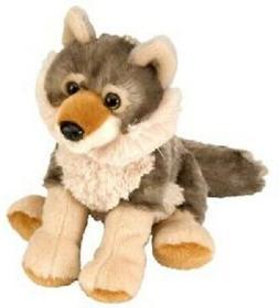 "Wild Republic 8"" Stuffed WOLF Animal, Plush, Brand New with"