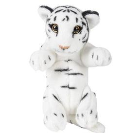 "8"" White Tiger Plush Stuffed Animal Jungle Cubbies Baby Cub"