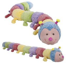 "80"" Jumbo Caterpillar Plush Stuffed Animals Pillow Kids Gift"