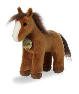 9.5 Inch Miyoni Brown Horse Plush Stuffed Animal by Aurora