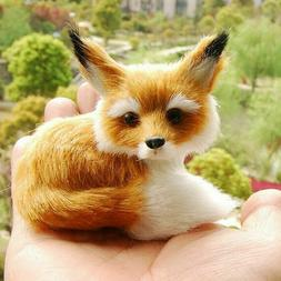 Realistic Stuffed Animal Soft Plush Kids Toy Sitting Fox 9*7
